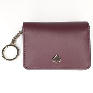 Kate Spade Keychain Wallet Card Holder Maroon